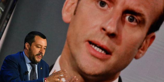 """La France rappelle son ambassadeur en Italie """"après des attaques sans précédent"""" (photo d'illustration: Matteo Salvini pendant une émission télévisée le 20 juin 2018)"""