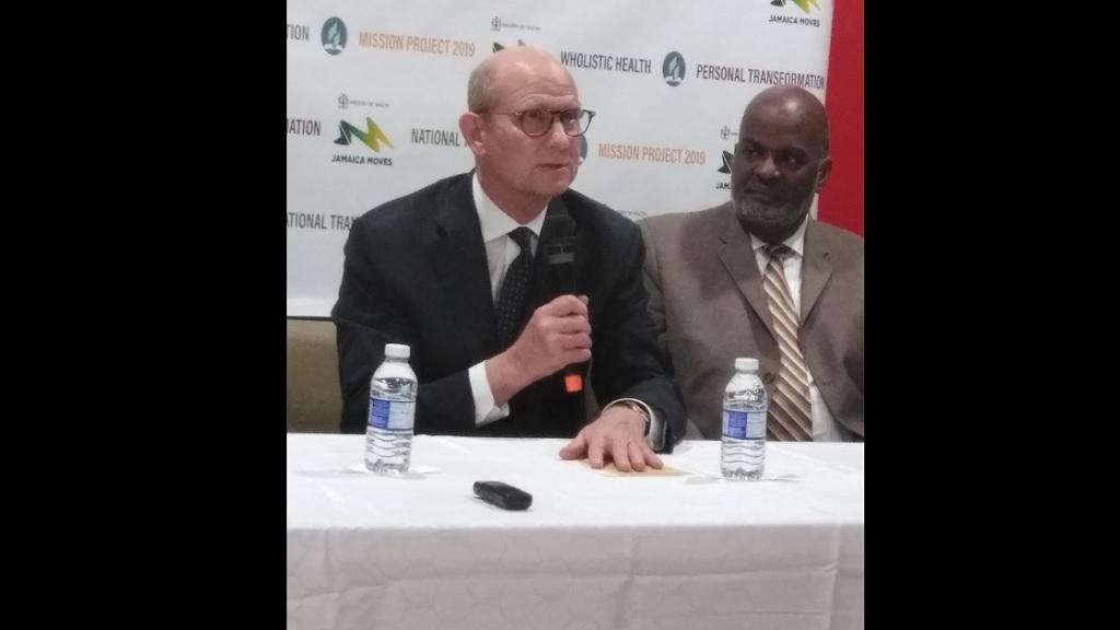 Pastor Ted Wilson (left) and Pastor Dudley Hosin.