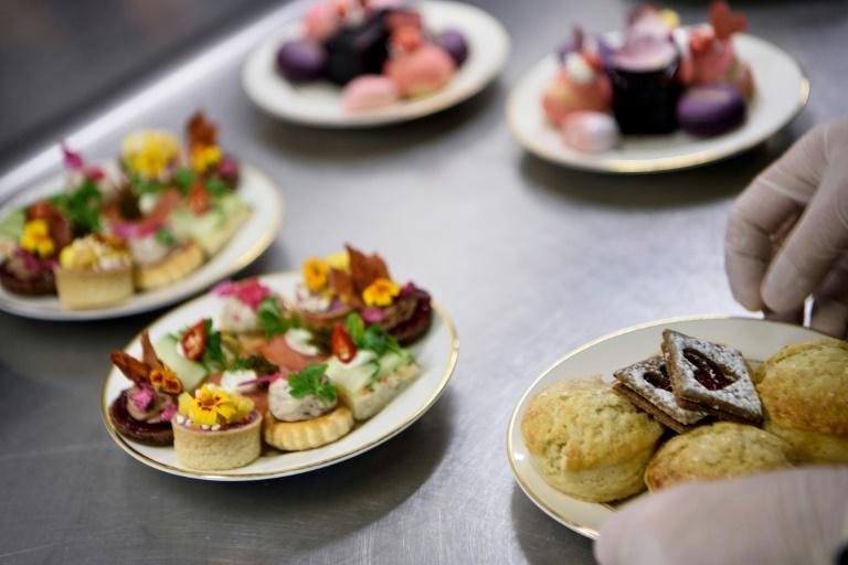 """Des pâtisseries préparées pour le """"Galentine's Day"""" au St. Regis hotel de Washington, le 12 février 2019"""