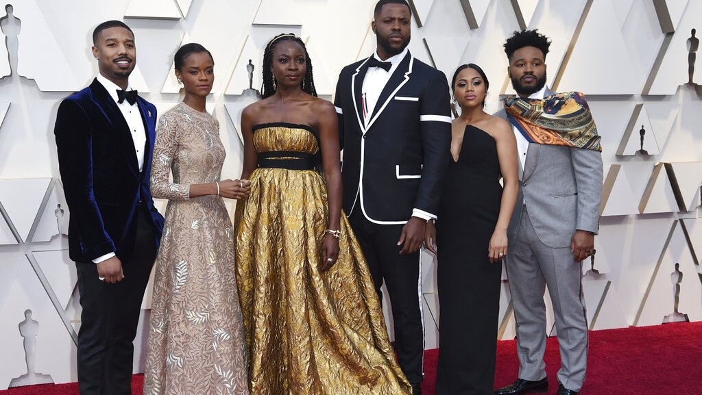 Photo: The cast of 'Black Panther' at the 2019 Academy Awards.