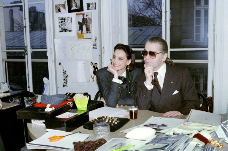 Karl Lagerfeld le 22 novembre 2018 à Paris