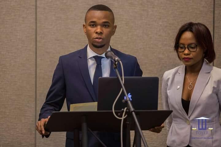 Carlo Nordeus et Winnie Hugot Gabrielle, deux responsables  du Foyer de Justice et du Droit