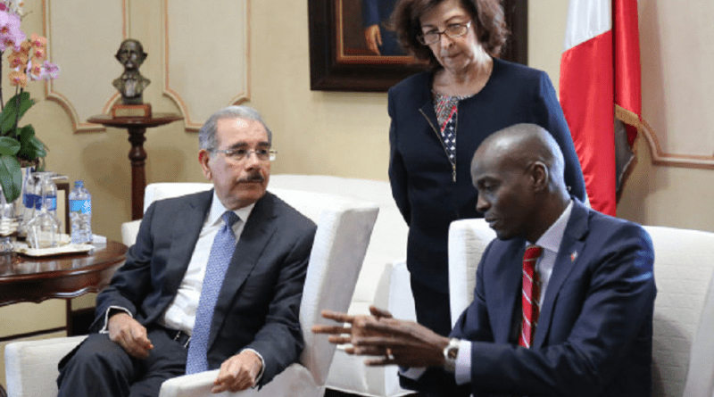 Le président dominicain, Danilo Médina et le chef de l'Etat haïtien, Jovenel Moise./Photo-Source: Haiti Reyèl