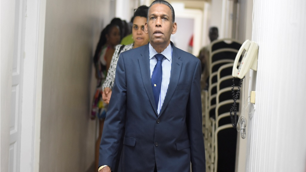Business executive, Wilford 'Billy' Heaven arrives at at the Medallion Hall Hotel in St Andrew on Thursday for the Jamaica Cricket Association's elections. (PHOTO: Marlon Reid).