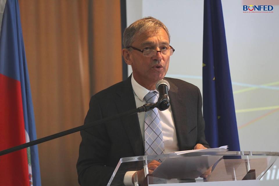 Vincent Dégert, l'ambassadeur de l'Union Européenne accrédité en Haïti Crédit Photo : Page FB de la délégation de l'UE en Haiti