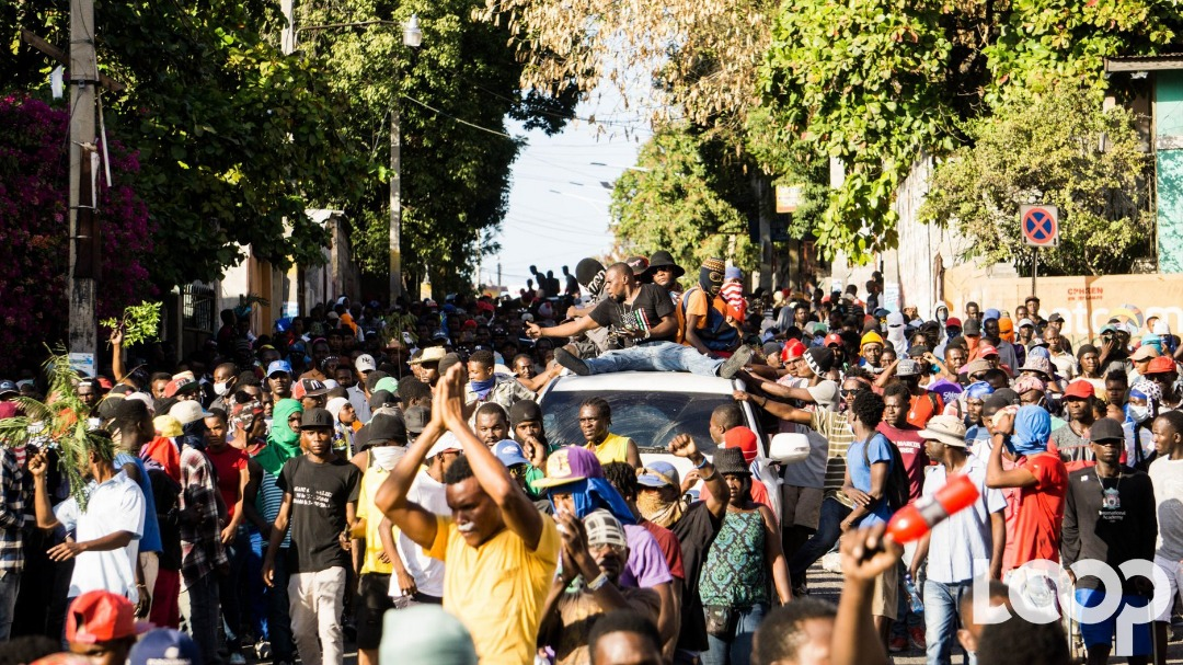 Des manifestants à Port-au-Prince, le 14 février 2019/ Photo: Steven Aristil