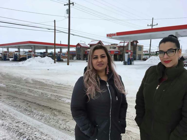 Martha Hernandez (à gauche) et Ana Suda à Havre, dans le Montana (Etats-Unis), le 23 janvier 2019
