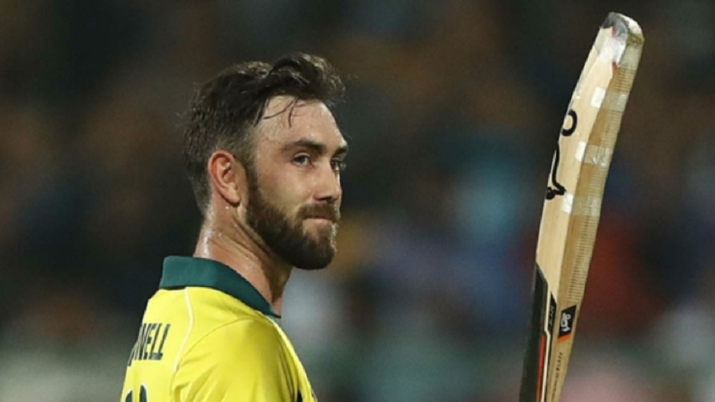 Glenn Maxwell during his remarkable hundred against India.