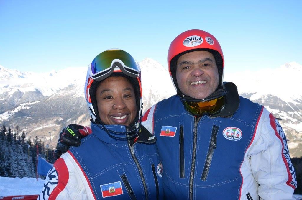 Jean Pierre Roy et Céline les deux athlètes haïtiens qui représenteront Haiti au championnat mondial de ski alpin - Crédit Photo : FHS