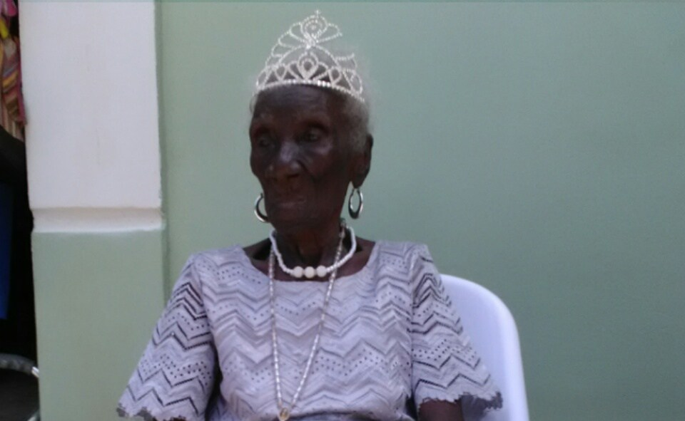 Photo : Bénicia Souffrant, ''Madan Janba'', du haut de ses 126 ans.