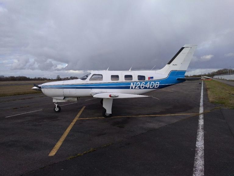 Photo de l'avion qui transportait Emiliano Sala et s'atait abîmé dans la Manche le 21 janvier 2019