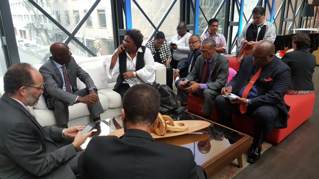 Prime Minister Dr Keith Rowley and CARICOM met  in Uraguay to discuss Venezuela's crisis.