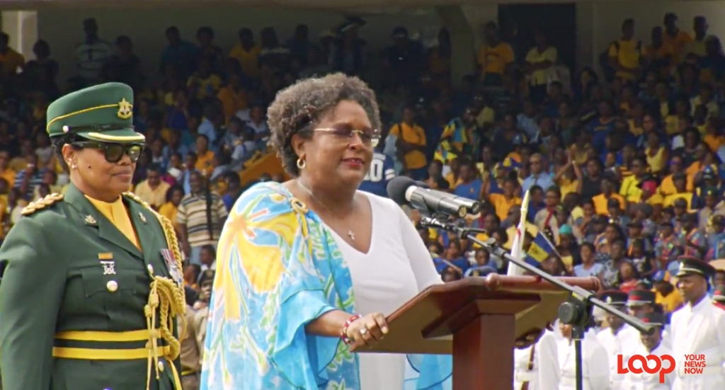 Prime Minister Mia Mottley delivering her first Address to the Nation on a Barbados Independence Day as leader of this country.