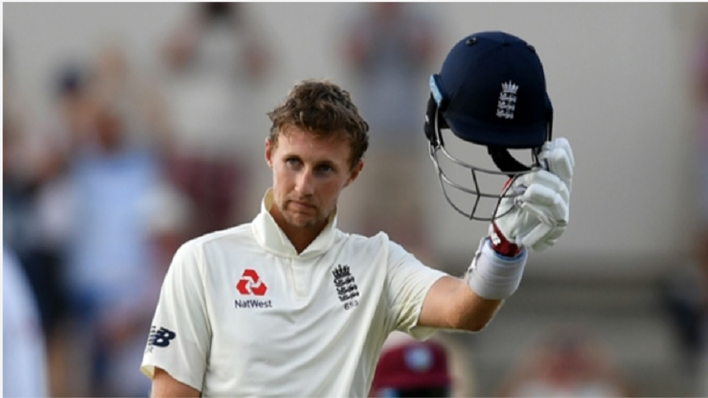 England batsman Joe Root celebrates his ton against West Indies.
