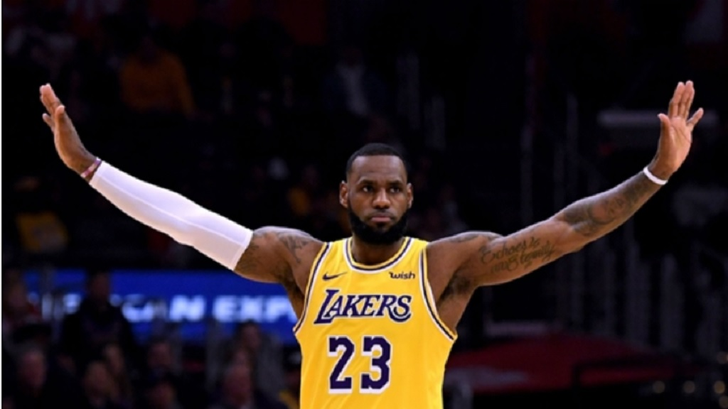 Lakers superstar LeBron James.