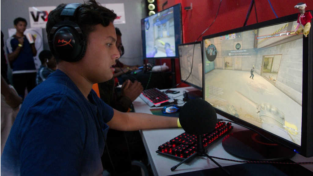 Dylan Fletcher  plays Counter Strike Global Offensive during the Jamaica Esports Initiative's national qualifiers in January.