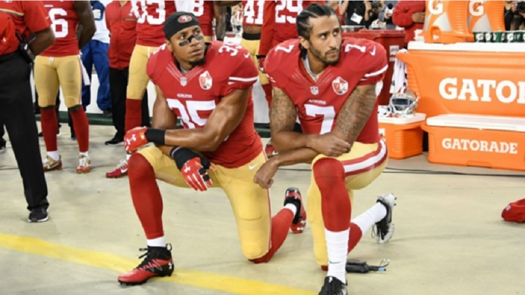 Eric Reid and Colin Kaepernick.