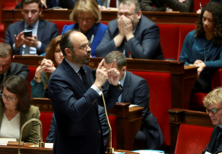 Le Premier ministre Edouard Philippe devant l'Assemblée nationale, le 12 février 2019