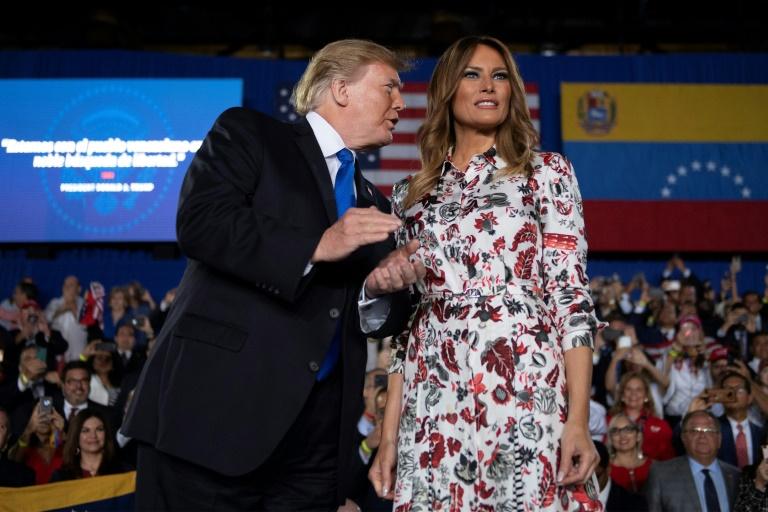 Donald Trump et sa femme Meliana