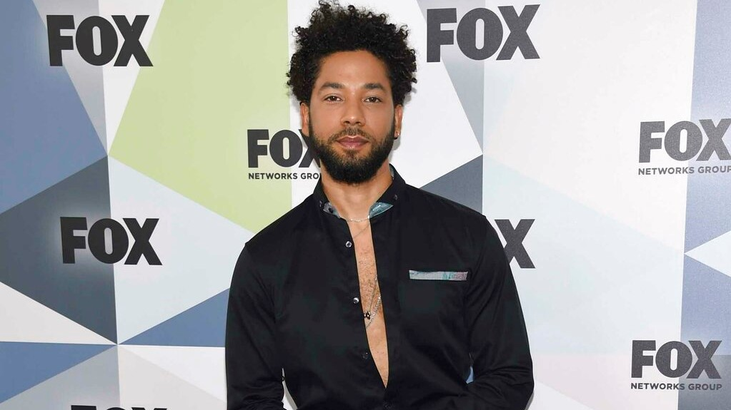 "In this May 14, 2018 file photo, Jussie Smollett, a cast member in the TV series ""Empire,"" attends the Fox Networks Group 2018 programming presentation afterparty in New York. (Photo by Evan Agostini/Invision/AP, File)"