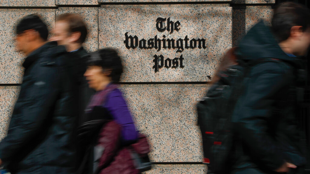 TThe One Franklin Square Building, home of The Washington Post newspaper, in downtown Washington, Thursday, Feb. 21, 2019. The Kentucky teen at the heart of an encounter last month with a Native American activist at the Lincoln Memorial in Washington is suing The Washington Post for $250 million, alleging the newspaper falsely labeled him a racist. His attorneys are threatening numerous other news organizations, including The Associated Press. (AP Photo/Pablo Martinez Monsivais)
