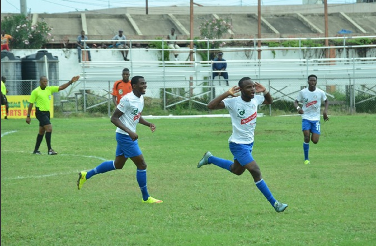 File photo of Portmore players in high spirits