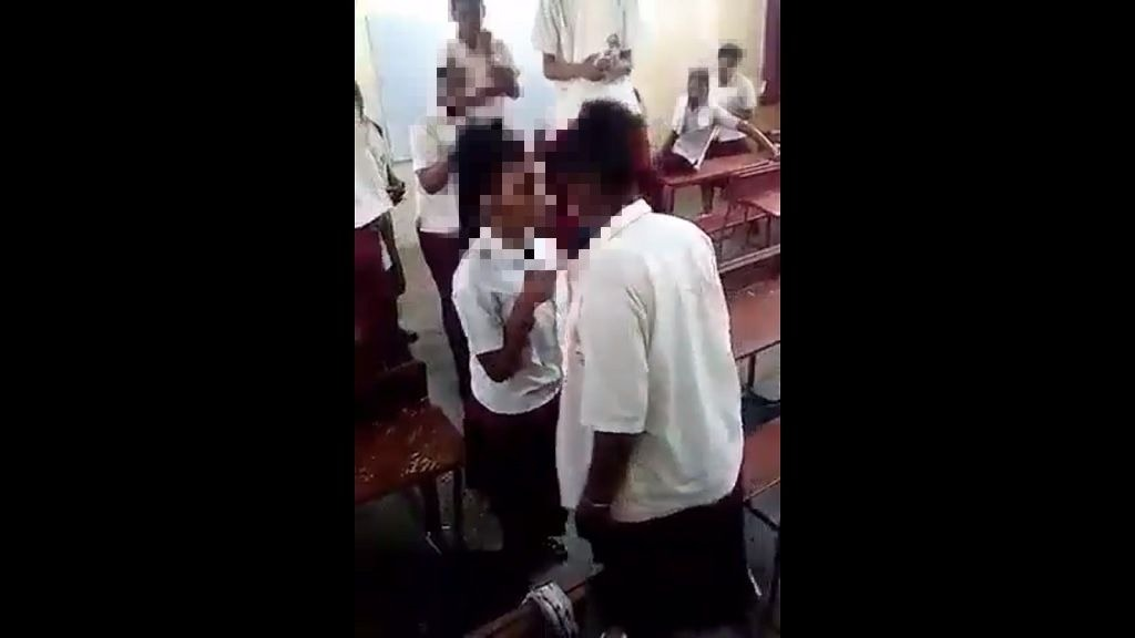 Photo: a viral video showing students fighting while in school uniform was shared via social media in January 2019.