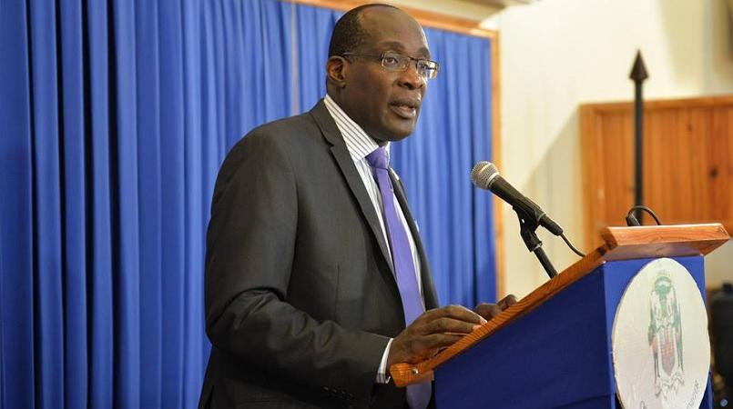 File photo of Education Minister Ruel Reid at a Post Cabinet press briefing.