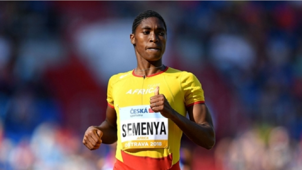 Caster Semenya in action.