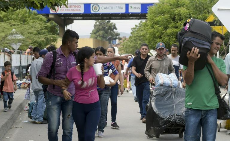 Des cartons d'aide humanitaire américaine à Cucuta (Colombie), à la frontière avec le Venezuela, le 8 février 2019