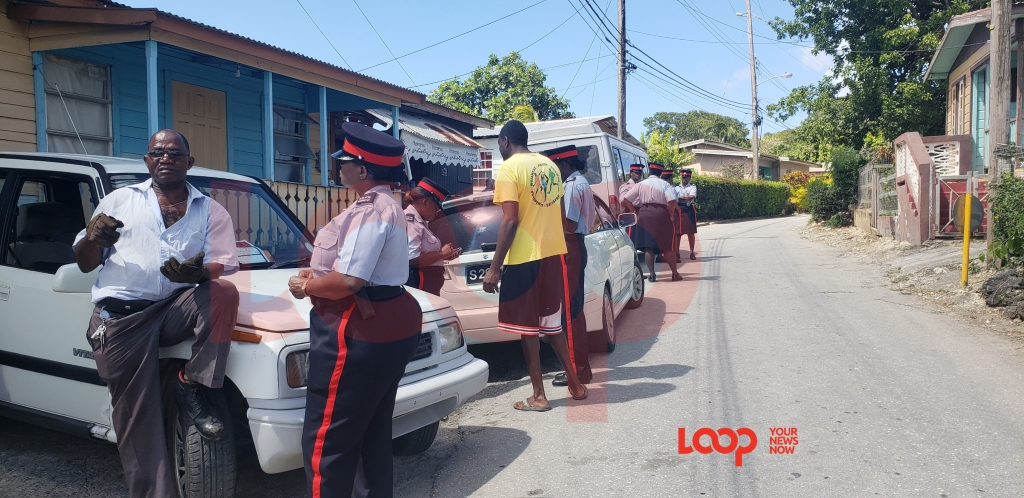 Policewomen in Melrose, St. Thomas.