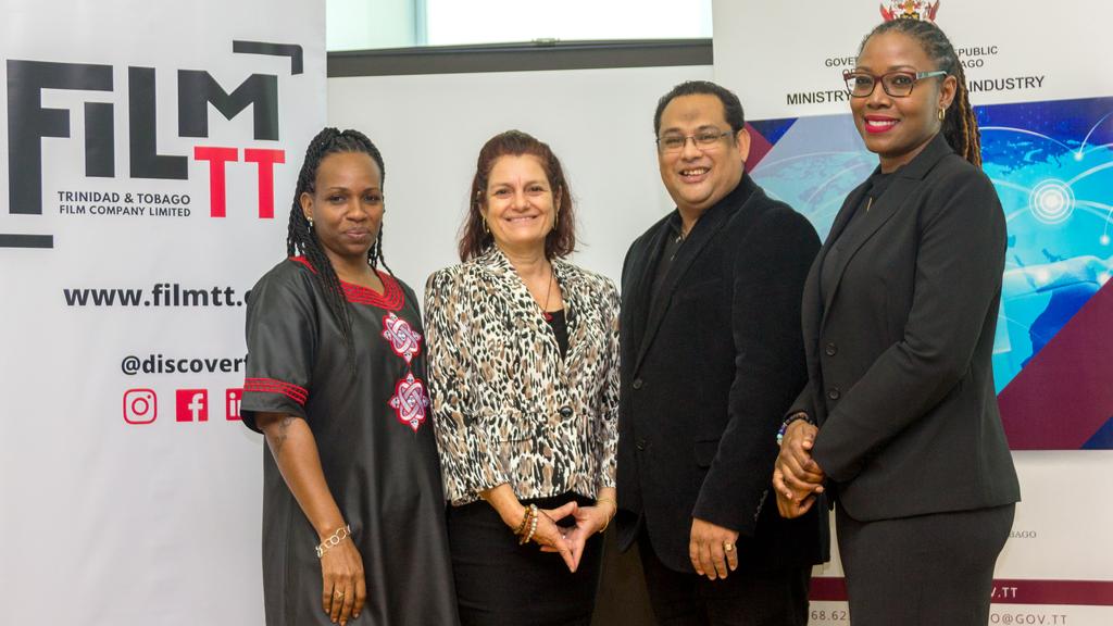(L-R) Dionne Mc Nicol Stephenson, Chairman, FilmTT; Lorraine O' Connor, Director, FilmTT; Richard Chin Fatt, Director, FilmTT and Nneka Luke, General Manager, FilmTT