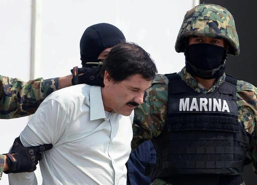 """Joaquin Guzman, alias """"El Chapo"""", le 22 février 2014 à Mexico"""