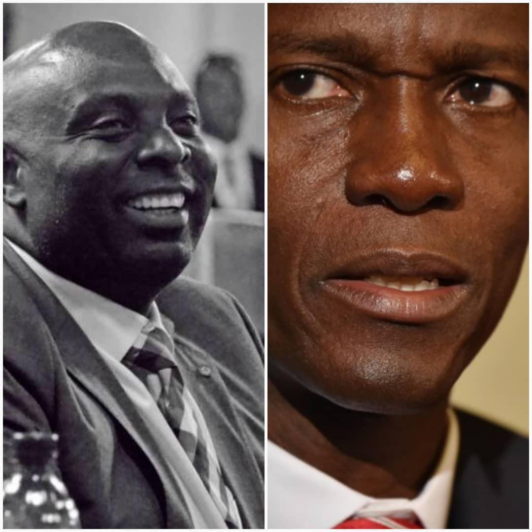 Photo-Collage : Le Sénateur Jacques Sauveurs Jean et Le Président Jovenel Moise