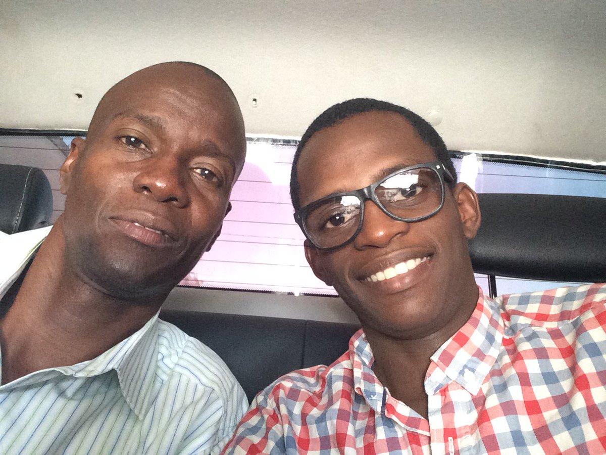 Le président Jovenel Moise et son fils Joverlein. Photo: Compte twitter du fils du président