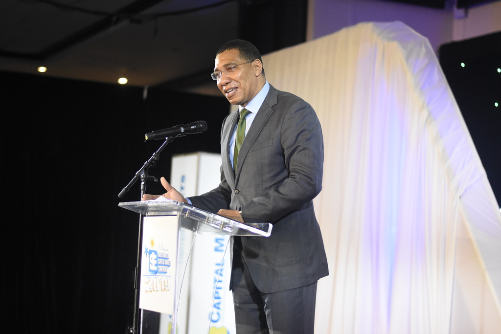 """The shareholder is far more effective at holding management to account and far more effective in ensuring innovation than the voter,"" Prime Minister Andrew Holness said. (Photo: Marlon Reid)"