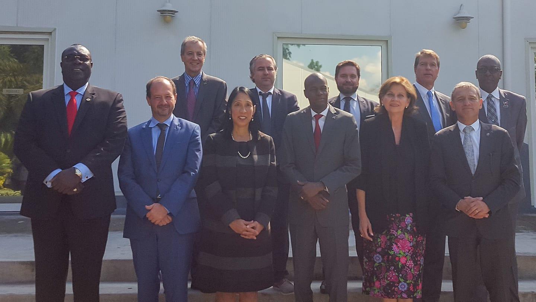 Des représentants du core Groupe ainsi que le Président Jovenel Moise
