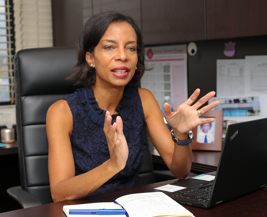 Vice President of the Employee Benefits Division at Sagicor Life, Nicola Leo-Rhynie.