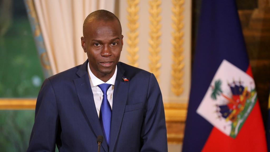 Jovenel Moise, Président de la République / Le président haïtien Jovenel Moïse lors d'une conférence de presse à l'Elysée, à Paris, le 11 décembre 2017. LUDOVIC MARIN / POOL / AFP