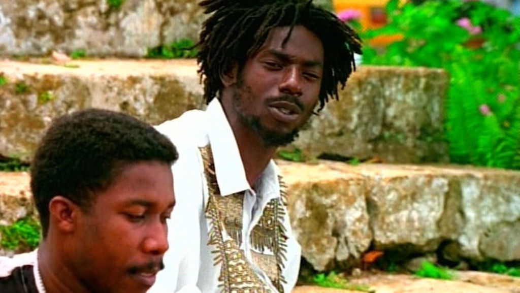 Buju Banton (right) appears in a scene during his 'Untold Stories' video.
