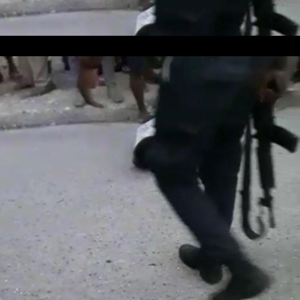 Capture d'écran à partir d'une vidéo parvenue à la rédaction