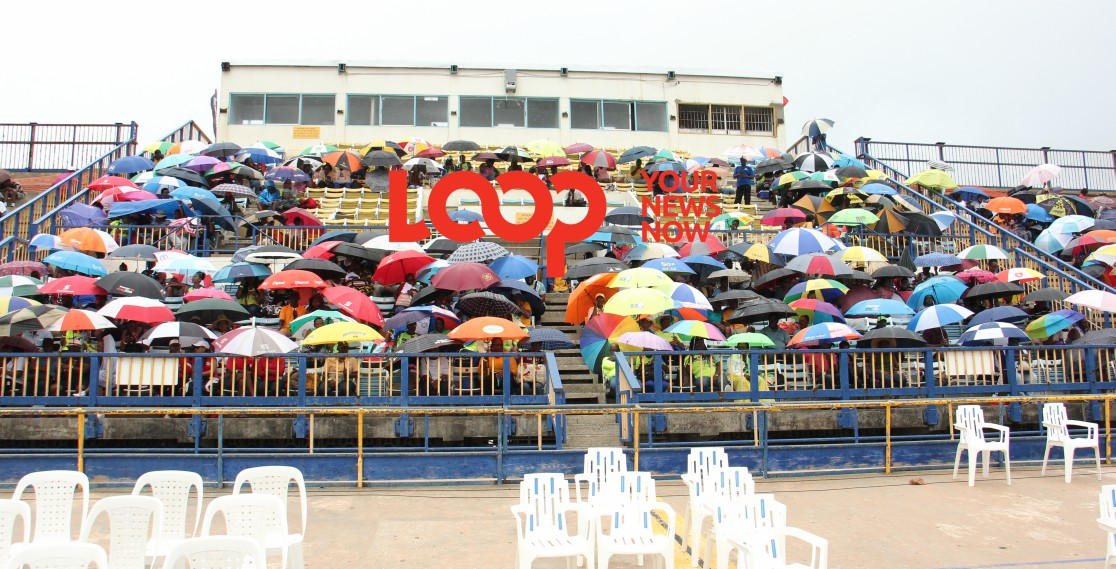 The umbrellas were out in full forces at BSSAC as patrons sheltered from the elements.