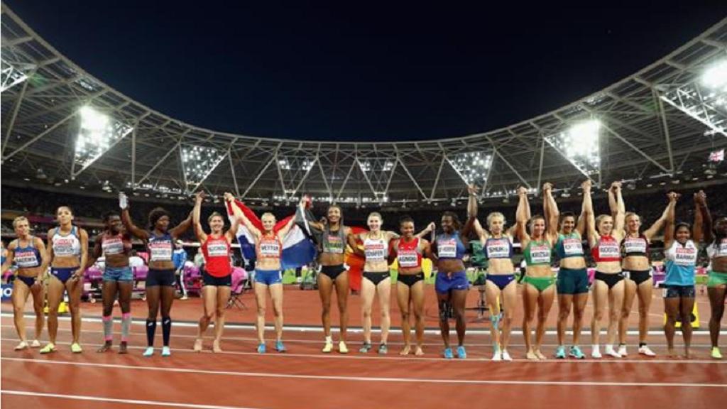 Heptathlon field at the IAAF World Championships London 2017.