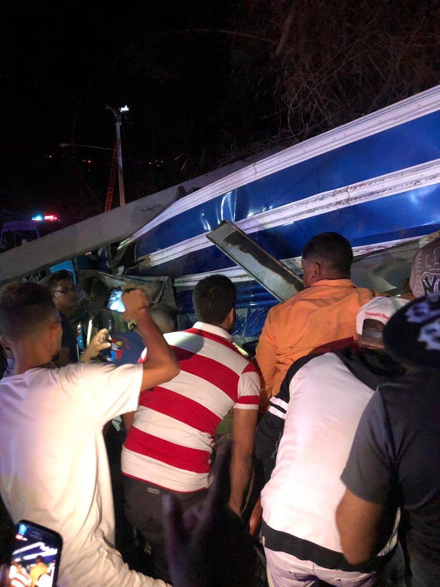 La scène de l'accident dans la soirée du 03 mars 2019
