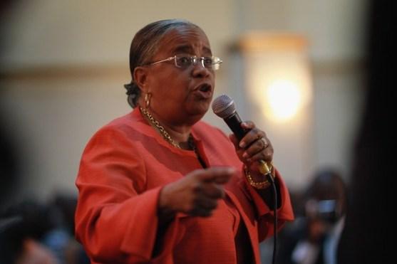 L'ancienne candidate à la présidence Mirlande Manigat : Crédit Photo : omegaworldnews.com