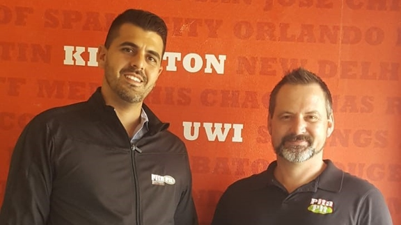 Franchisee Daniel Fakoory and Dylan Powell, Director of Strategic Development for Pita Pit International