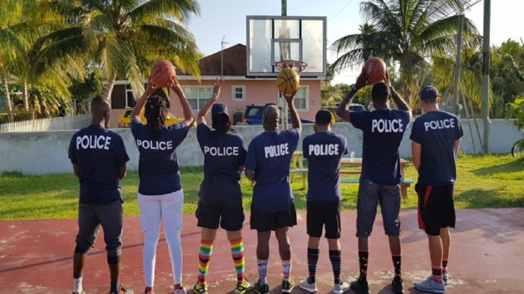 Community Officers Ready for Basketball Game