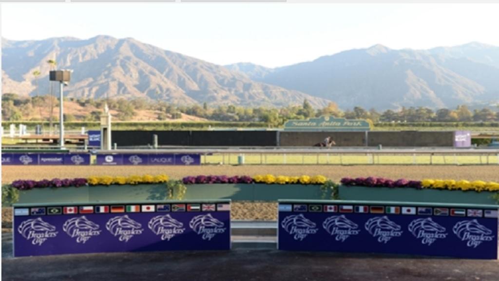 Santa Anita Park racetrack.