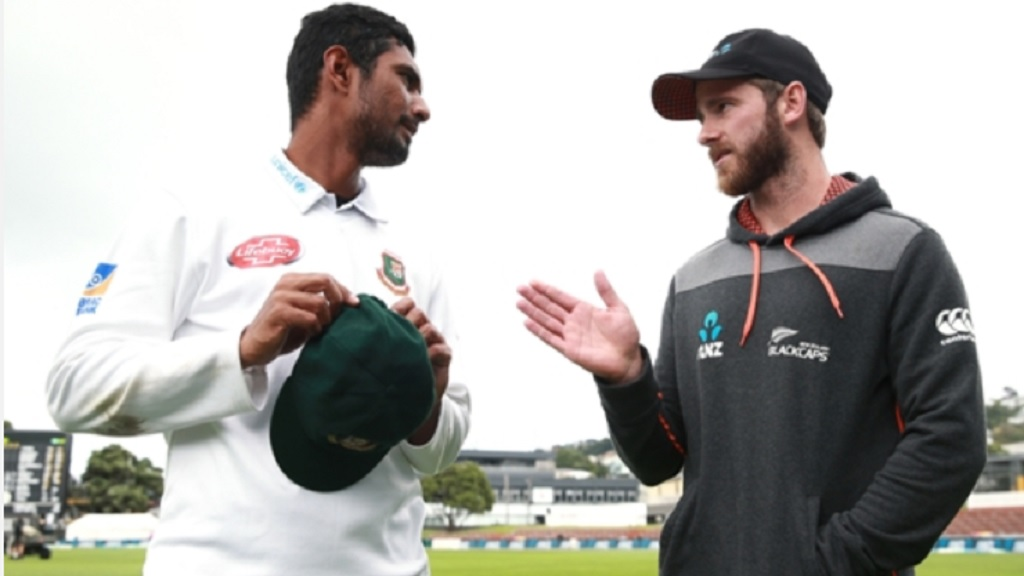 Bangladesh's Mahmudullah and New Zealand's Kane Williamson.