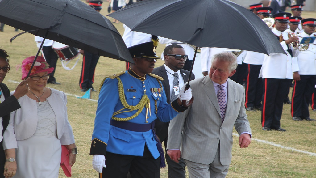 Their Royal Highnesses in St. Lucia